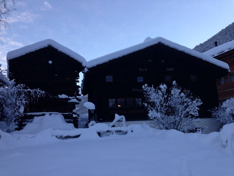 Barn and old house in Zermatt: once home of the Salzgebers.