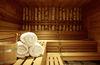Sauna in gediegener Atmosphäre im Hotel Europe, Zermatt.