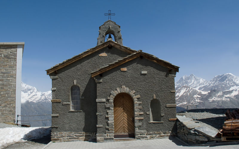 Die Kapelle auf dem Gornergrat ist eine der meistbesuchten Kapellen von Zermatt.