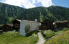 The chapel stands in the middle of the hamlet of Zmutt, an hour's walk from Zermatt.