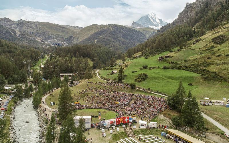 Le Combat de reines de 2018 était la première manifestation à se tenir dans la Matterhorn Arena.