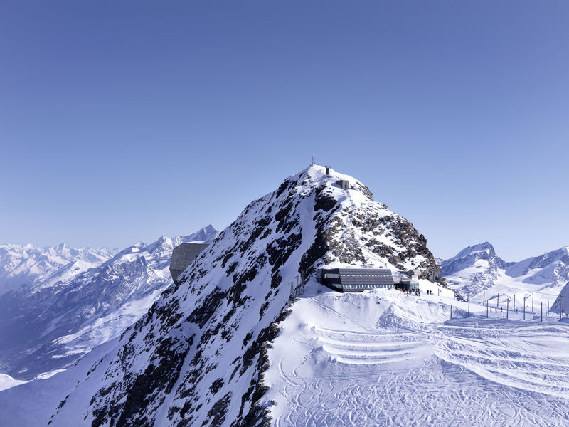 Matterhorn glacier paradise: the highest cable car station in the Alps, at 3,883 m.