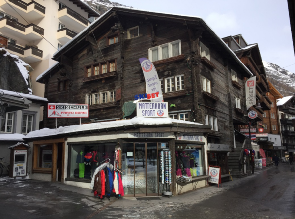 Matterhorn Sport rents skis, bikes and mountain sports equipment.