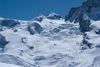 Le sommet de 4'000 m du Pollux (à droite) vu du nord.
