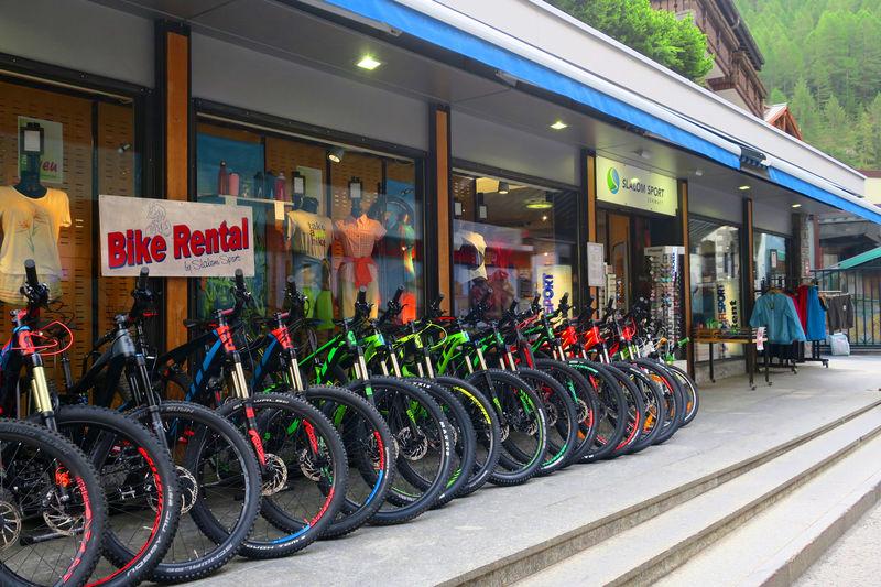 Grösste Bikevermietung in Zermatt