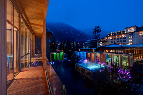 The spa of the Hotel Backstage is located in the heart of the village of Zermatt.