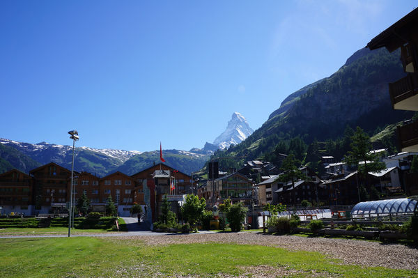 You have a great view of the Matterhorn from the playground.