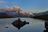 Le Stellisee au lever du soleil: un thème photographique des plus séduisants.