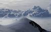 La Pyramide Vincent semble, depuis Zermatt, le dernier sommet de 4'000 m du massif du Mont Rose.