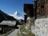 Findeln, above Zermatt, with view of the Matterhorn.