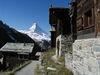 Findeln oberhalb Zermatt mit Aussicht auf das Matterhorn.