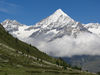 The triangular shape of the Weisshorn is fascinating.