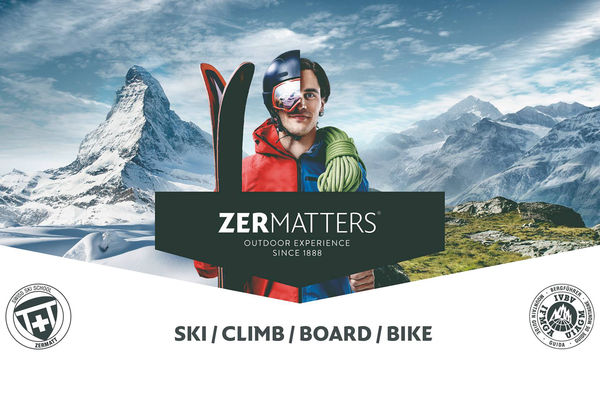Zermatters offers guest services for skiing, climbing, snowboarding and biking.