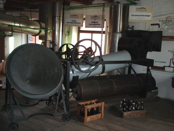 Gerstensortieranlage im Brauereimuseum Zwiesel