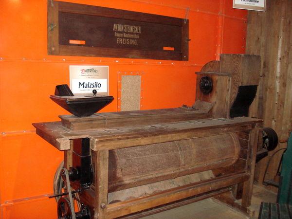 Malzputzmaschine im Brauereimuseum Zwiesel