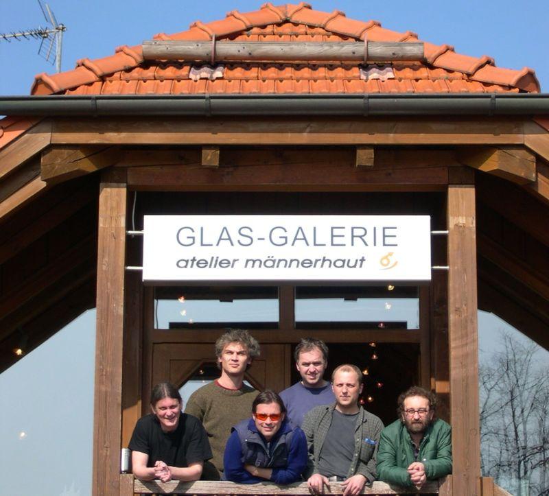 Die Künstler der Glas-Galerie Atelier Männerhaut in Zwiesel