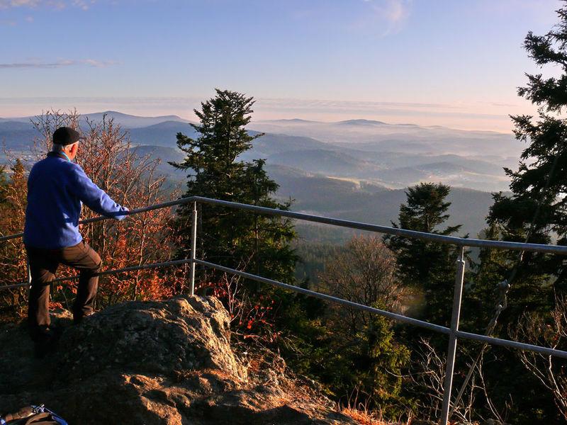 Vom Hennenkobel, dem Zwieseler Hausberg, kann man eine traumhafte Aussicht genießen.