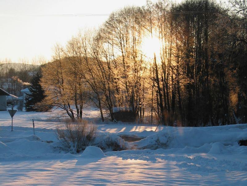 Wintersonne im Langlaufzentrum Zwiesel
