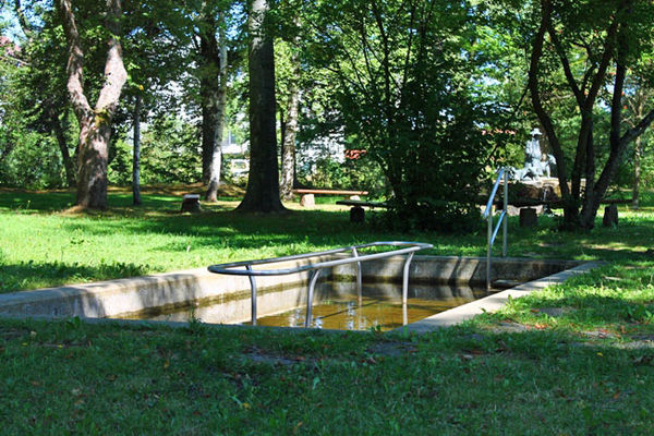 Das Fussbad im Stadtpark Zwiesel