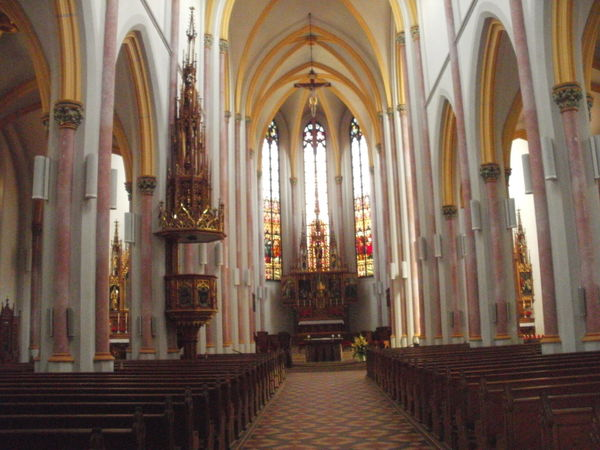 Innenraum der Stadtpfarrkirche Zwiesel