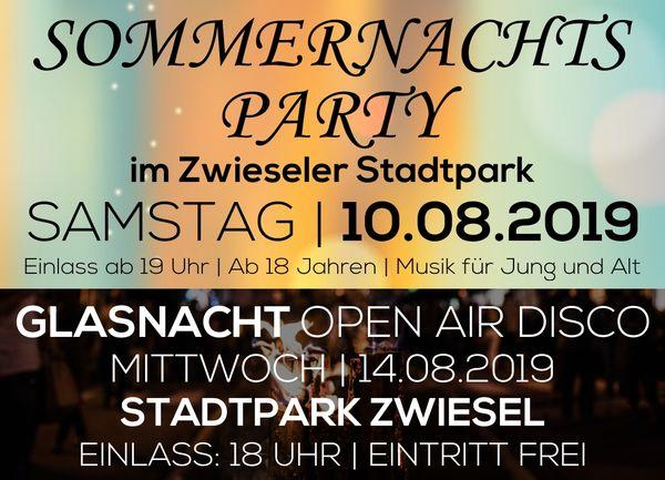 Sommernachtspartyund Open Air Disco im Zwieseler Stadtpark